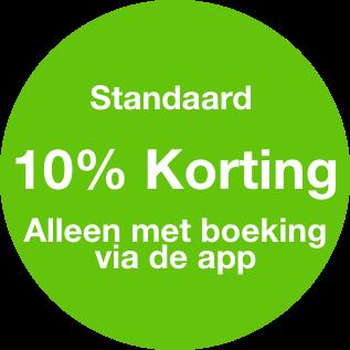 10% korting via de app